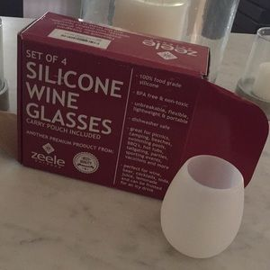 Other - Box set of silicone wine glasses
